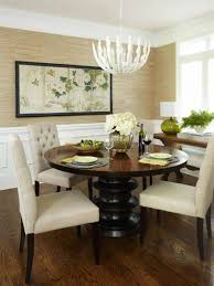 dining room for small spaces with wainscoting and contemporary