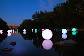 creatmosphere light spheres floating on prince s island canal