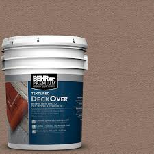Adobe Ft Behr Premium Textured Deckover 5 Gal Sc 148 Adobe Brown Wood And