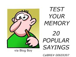 test your memory 20 popular sayings