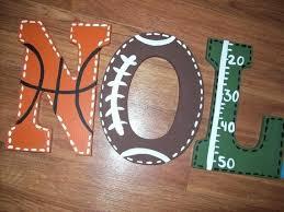 wooden letter wreath ideas sports fan large wooden letters