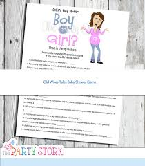 baby shower question tales tale baby shower gender