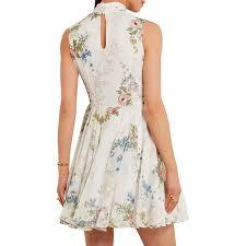 topshop dress topshop unique hambledon floral print silk georgette dress evachic