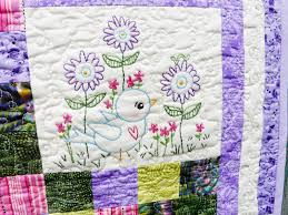 blue bird of happiness embroidery quilt pattern shirley hudson