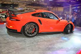 porsche cayman orange porsche 911 gt3 rs side profile left at the 2015 gaikindo
