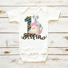 monogram baby items unicorn birthday onesie personalized baby girl clothes