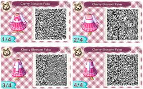 animal crossing new leaf qr code dress cherry blossom fuku