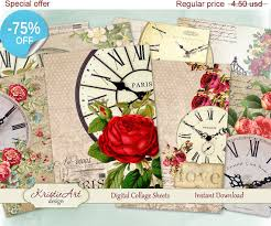 aceo cards for sale 75 sale aceo cards floral clocks digital by kristieartdesign