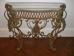 Iron Console Table French Ornate Iron Console Table Antique Antique Furniture
