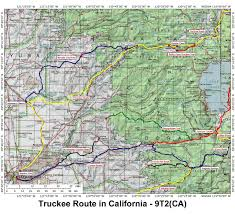Map Ca Historic Routes Paths Roads Trails Ca Or Wa