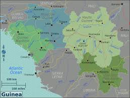 Picture Of Map Map Of Guinea Regions Worldofmaps Net Online Maps And Travel