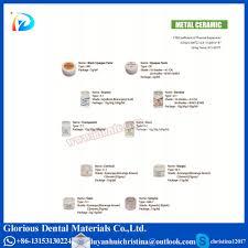 Shade Of Orange Names Dental Ceramic Powder Glorious Dental Materials High And Super
