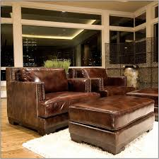 Oversized Chair With Ottoman Luxury Brown Leather Chair With Ottoman 38 Photos