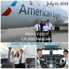 Psa Airlines Route Map by Psa Airlines Psa U0027s First Crj900 Nextgen Goes Into Revenue