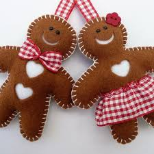gingerbread ornaments gingerbread felt ornaments we how to do it pinteres