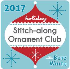 stitch along ornament club 2017 betz white