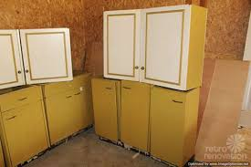 Gold Kitchen Cabinets Harvest Gold Kitchen Cabinets Vintage St Charles Retro Renovation