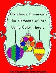 color theory lesson using ornaments crafts