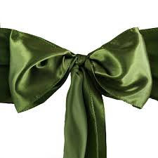 moss ribbon 5 pcs moss willow satin chair sashes tie bows catering wedding