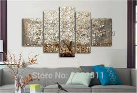 5 piece canvas wall art hand painted palette knife oil 5 pieces panel palette knife hand painted flower abstract modern oil