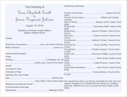 Simple Wedding Program Templates Free Wedding Program Template Downloads