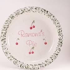 personalized pie plate ceramic cherry pie plate personalized pie plate ceramic cherry pie