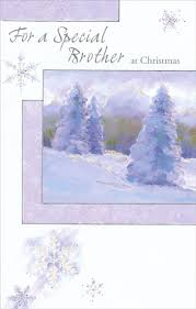 snow covered trees brother christmas card by freedom greetings