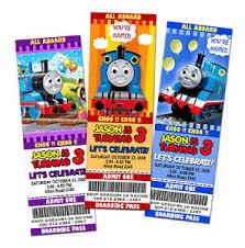 9 new designs thomas the tank train birthday party invitation