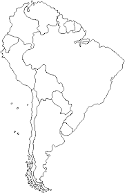 map of and south america black and white find the south american countries