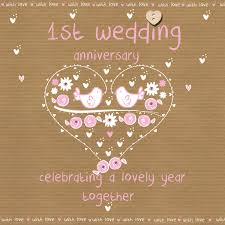 1st year wedding anniversary wedding anniversary card karenza paperie