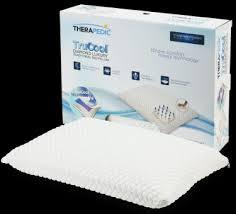 memory foam bed pillows therapedic therapedic trucool memory foam bed pillow