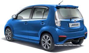 biru alza perodua myvi facelift rendering
