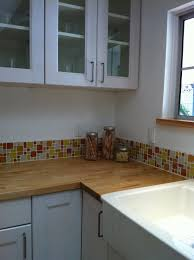 Glass Kitchen Tile Backsplash Decorating Ideas Fetching Kitchen Decoration Using Blue Beach