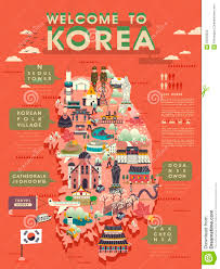 Map Of South Korea South Korea Travel Map Stock Illustration New Zone