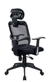 fauteuil de bureau ergonomique pas cher avec dossier filet noir