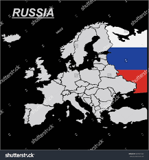 Russian Flag Black And White Eu Europe Map Russia Flag Vector Stock Vector 687841342 Shutterstock