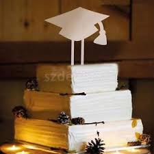 graduation cap cake topper novelty wooden grad cap cake toppers wood picks for graduation