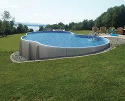 Pools Backyard Radiant Semi Inground Pools