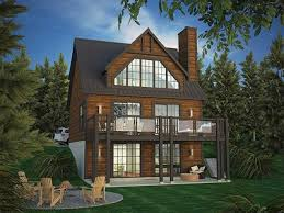 vacation home plans vacation home plan with rear facing views 90297pd