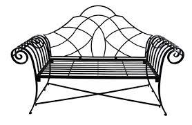 Steel Outdoor Bench Ascalon Lutyens Black Steel Garden Bench 129 99