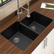 Houzer Quartztone  X   Double Bowl Undermount - Double bowl undermount kitchen sinks