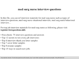 Rpn Sample Resume by Med Surg Nurse Interview Questions
