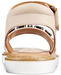 clarks artisan women u0027s lydie joelle flat sandals in natural lyst