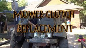 cub cadet ztr clutch replacement youtube