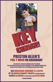 Diana Adams Blind Key Change Preston Allen U0027s Pre T Hour On Broadway By The Duplex