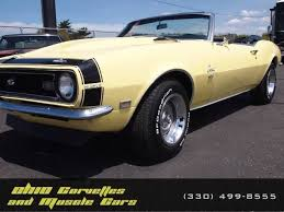 yellow chevy camaro for sale butternut yellow 1968 chevrolet camaro for sale mcg marketplace
