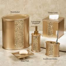 prestigue champagne gold mosaic bath accents