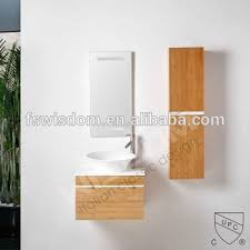 Bamboo Bathroom Cabinet Solid Surface Wash Basin Bamboo Vanity Bathroom Cabinet Wd2134 1