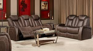 3 Recliner Sofa Crestline Chocolate 3 Pc Living Room With Power Plus Reclining