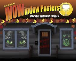 wowindow posters green eyed glowing eyes halloween window